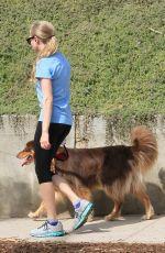 AMANDA SEYFRIED in Leggings Hiking with Her Dog in Runyon Canyon