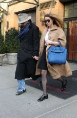 AMBER HEARD and Johnny Depp Leaves a Hotel in New York