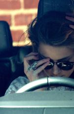 AMBER HEARD Shows Her Engagement Ring Out in Beverly Hills