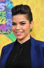 AMERICA FERRERA at 2014 Nickelodeon's Kids' Choice Awards in Los Angeles