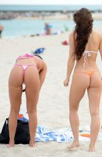 ANAIS ZANOTTI and CORALIE TERAIEFA in Bikini at a Beach in Miami