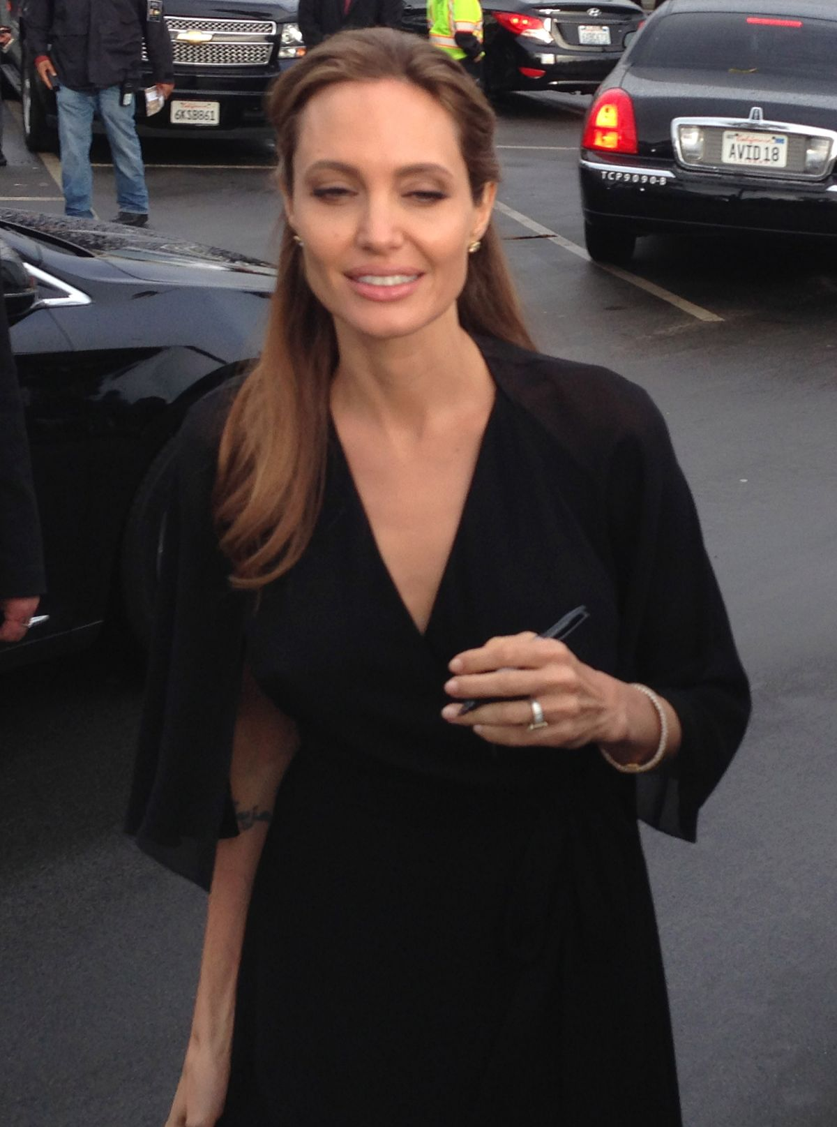 ANGELINA JOLIE Arrives at 2014 Film Independent Spirit Awards in Santa Monica