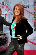 ANGIE EVERHART at Muppets Most Wanted Premiere in Los Angeles