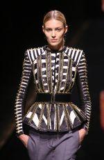 ANJA RUBIK at Balmain Fall/Winter 2014/15 Fashion Show in Paris
