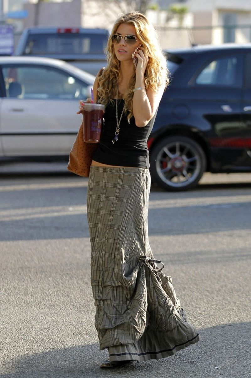 ANNALYNE MCCORD Out and About in Los Angeles