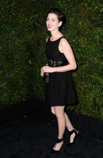 ANNE HATHAWAY at Chanel Charles Finch Pre-Oscar Dinner in Los Angeles