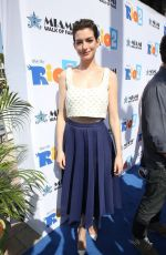 ANNE HATHAWAY at Miami Walk of Fame Unveiling in Miami