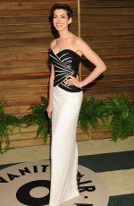 ANNE HATHAWAY at Vanity Fair Oscar Party in Hollywood