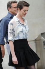 ANNE HATHAWAY Leaves BBC Studios in London