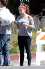 ARIEL WINTER at Farmers Market in Studio City