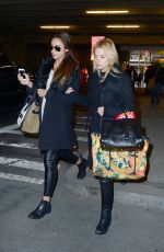 ASHLEY BENSON and SHAY MITCHELL Arrives at JFK Airport in New York