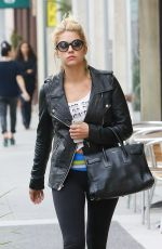 ASHLEY BENSON at Coffee Bean & Tea Leaf in Beverly Hills