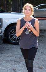ASHLEY BENSON Heading to a Gym in West Hollywood