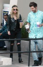 ASHLEY BENSON in jeans Out Shopping in Hollywood