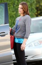 ASHLEY GREENE Arrives at Panini Cafe in West Hollywood