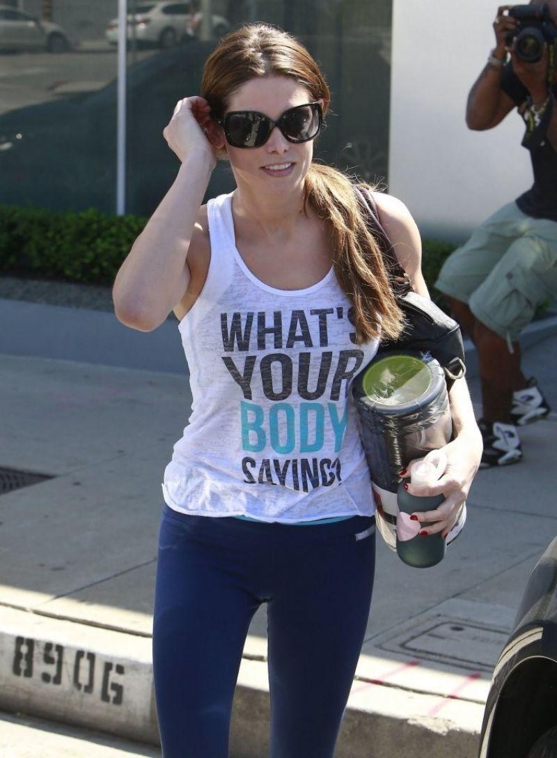 ASHLEY GREENE Leaves a Gym in West Hollywood