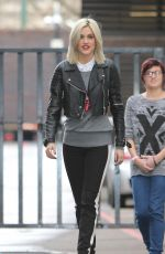 ASHLEY ROBERTS leaves a Studio in London