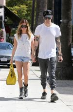 ASHLEY TISDALE and Christopher French Shopping on Robertson Boulevard