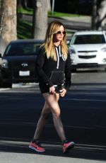 ASHLEY TISDALE in Shorts Out in Los Angeles