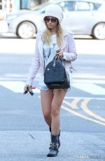 ASHLEY TISDALE Leaves Nine Zero One Salon in West Hollywood