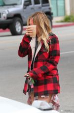 ASHLEY TISDALE Out for Coffee in Burbank