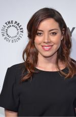AUBREY PLAZA at Paleyfest an Evening with Parks and Recreation Event in Beverly Hills