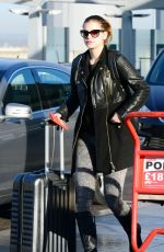 BARBARA PALVIN at Heathrow Airport in London