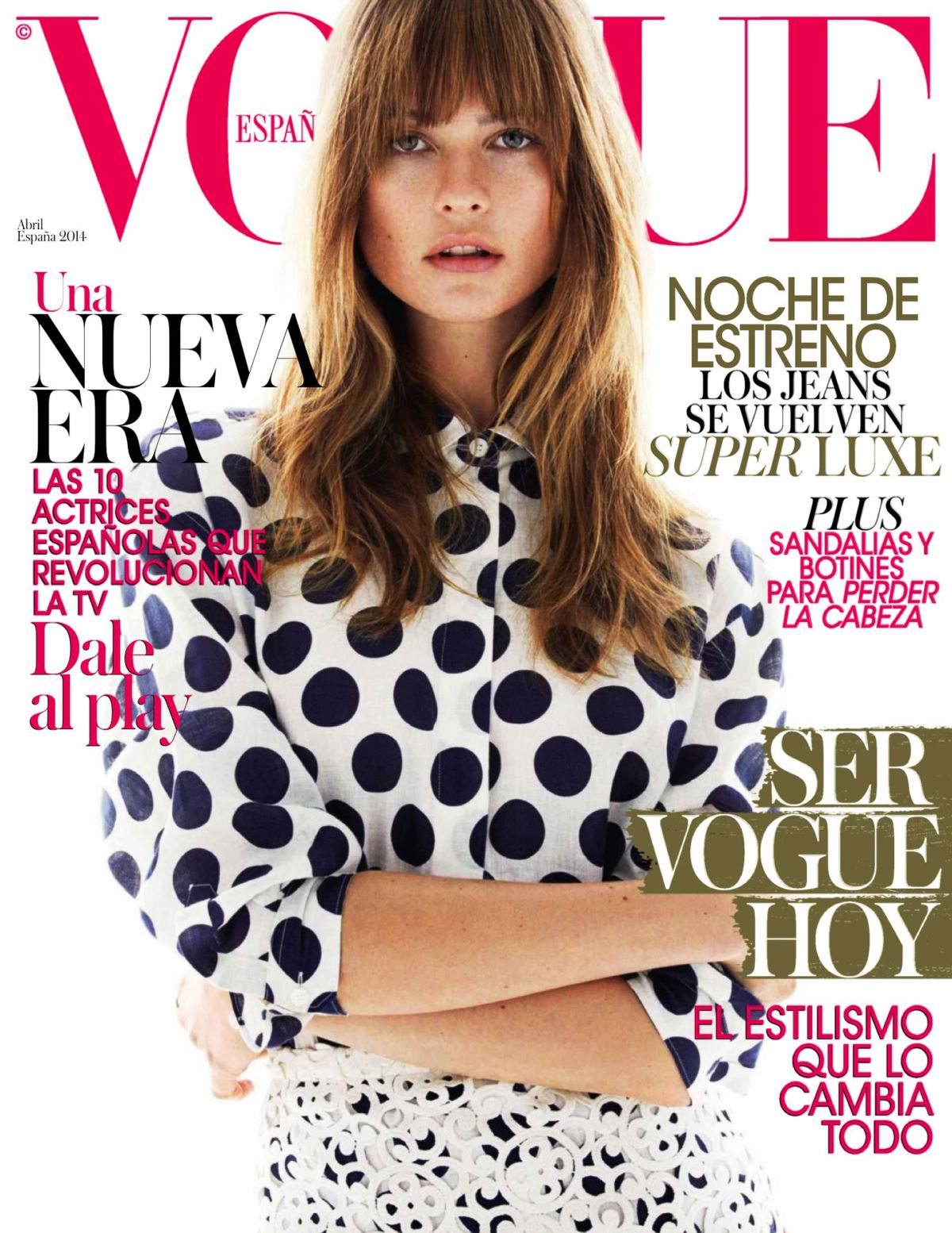 BEHATI PRINSLOO in Vogue Magazine, Spain April 2014 Issue