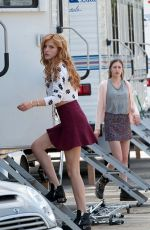 BELLA THORNE on the Set of Mostly Ghostly 2 in Los Angeles