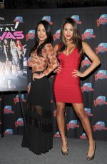 BELLA TWINS Promotes Their E! Series at Planet Hollywood Times Square in New York
