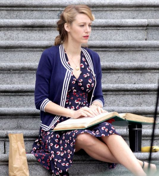 BLAKE LIVELY at Adaline Set in Vancouver