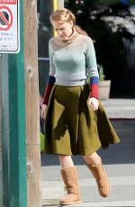 BLAKE LIVELY on the Set of Adaline in Vancouver
