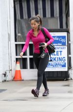 BRENDA SONG in Tights Heading to a Gym in Los Angeles