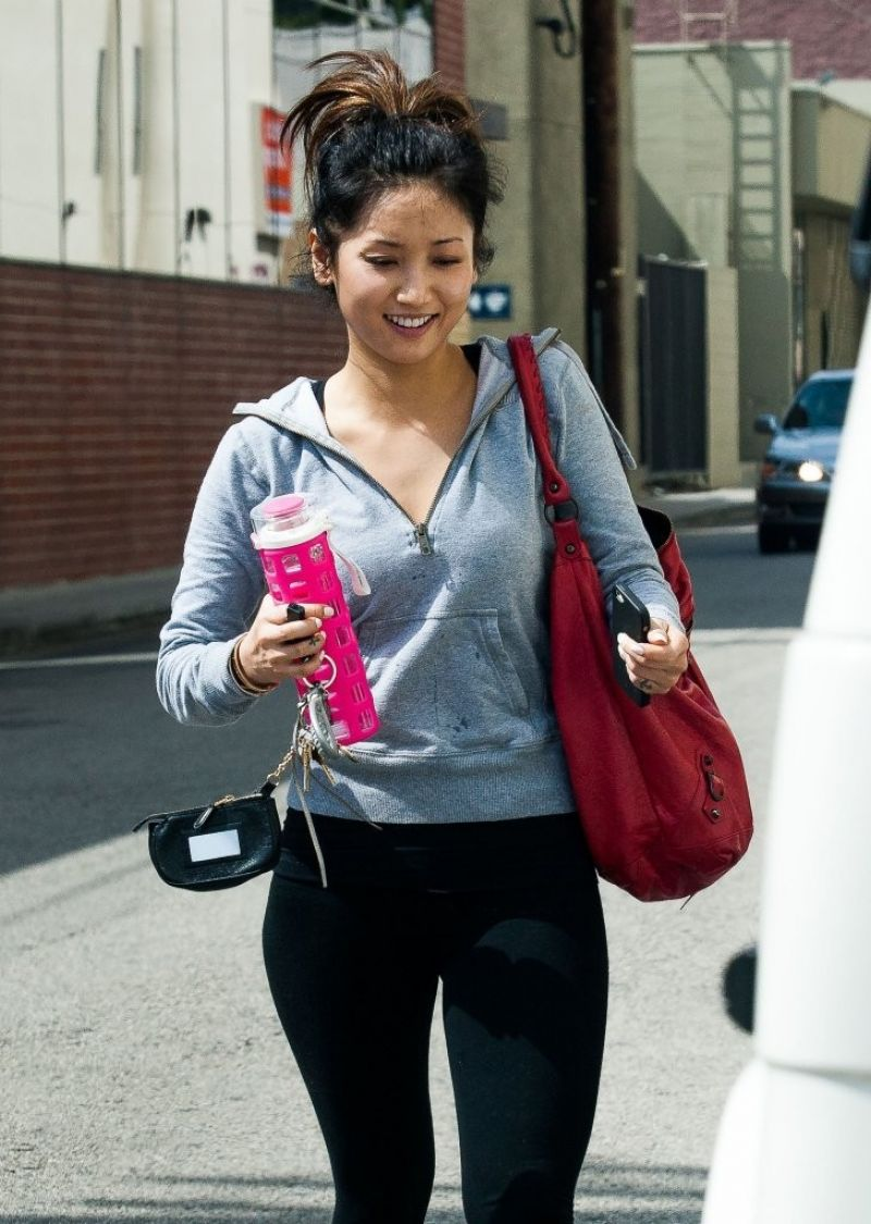 BRENDA SONG Leaves a Gym in Studio City 2103