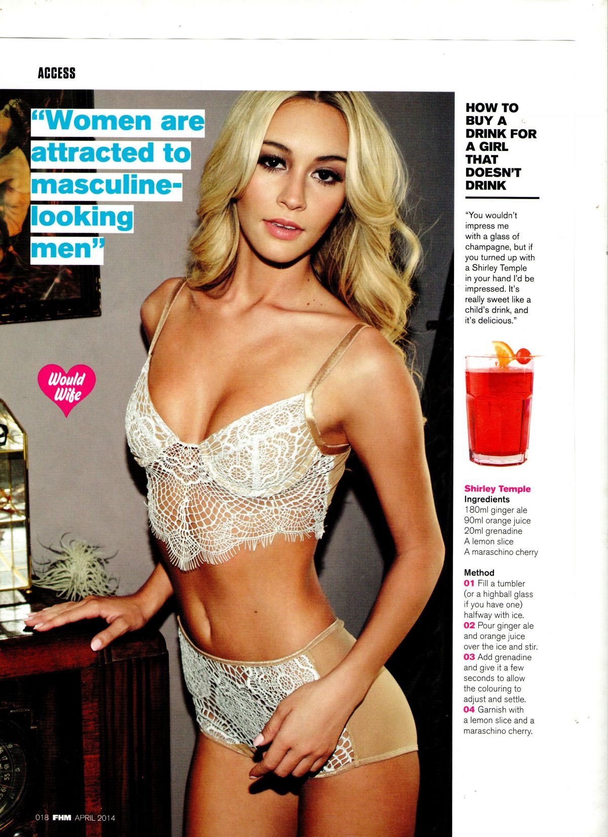 BRYANA HOLLY in FHM Magazine, April 2014 Issue