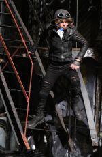 CAMREN BICONDOVA on the set of Gotham TV Series in New York