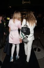 CARA DELEVINGNE and SUKI WATERHOUSE at Karl Lagerfeld Boutique Opening in London