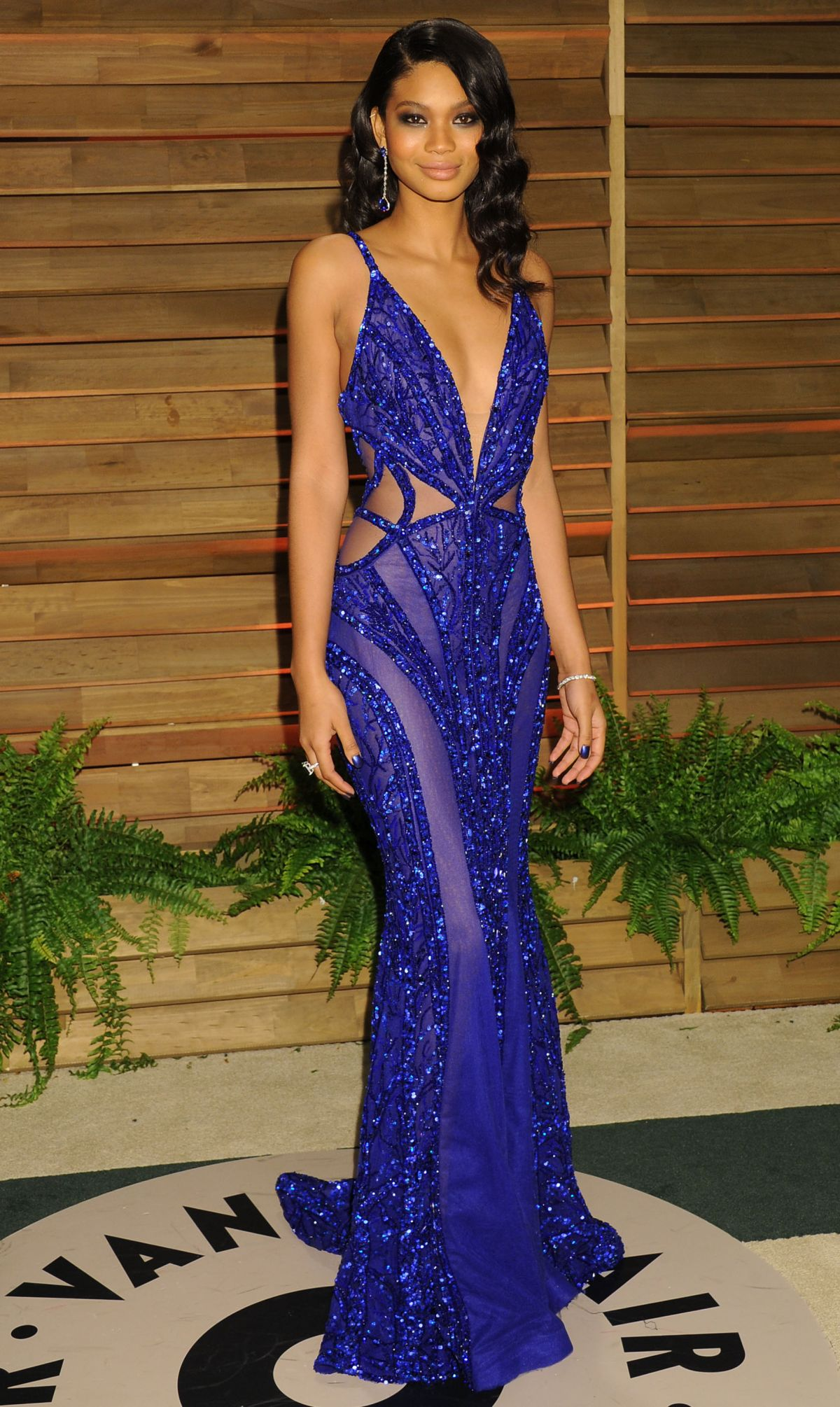 CHANEL IMAN at Vanity Fair Oscar Party in Hollywood