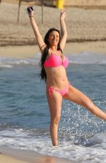 CHANTELLE HOUGHTON in Bikini at a Beach in Spain