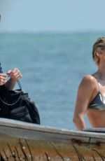 CHARLIZE THERON in Bikini at a Photoshoot on the Beach in Miami