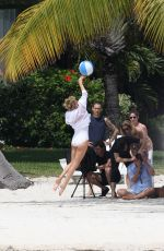CHARLIZE THERON in Swimsuit at a Photoshoot in Miami