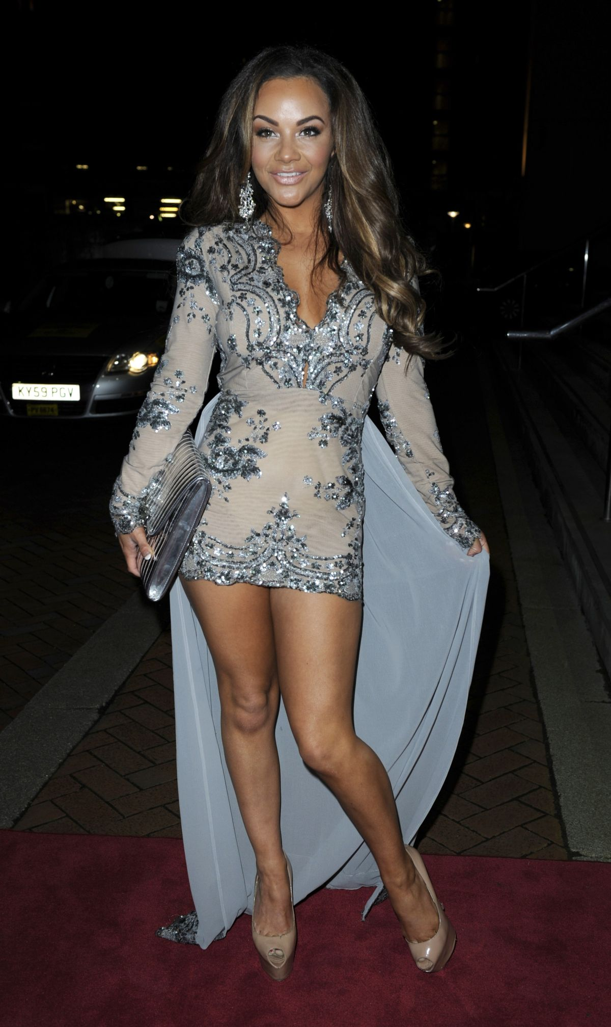 CHELSEE HEALEY at The Mirror Ball at Lowry Hotel in Manchester