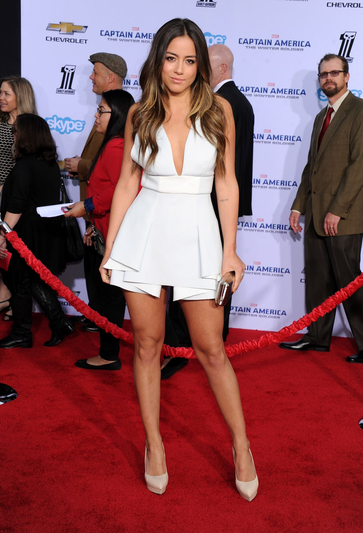 CHLOE BENNET at Captain America: The Winter Soldier Premiere in Hollywood
