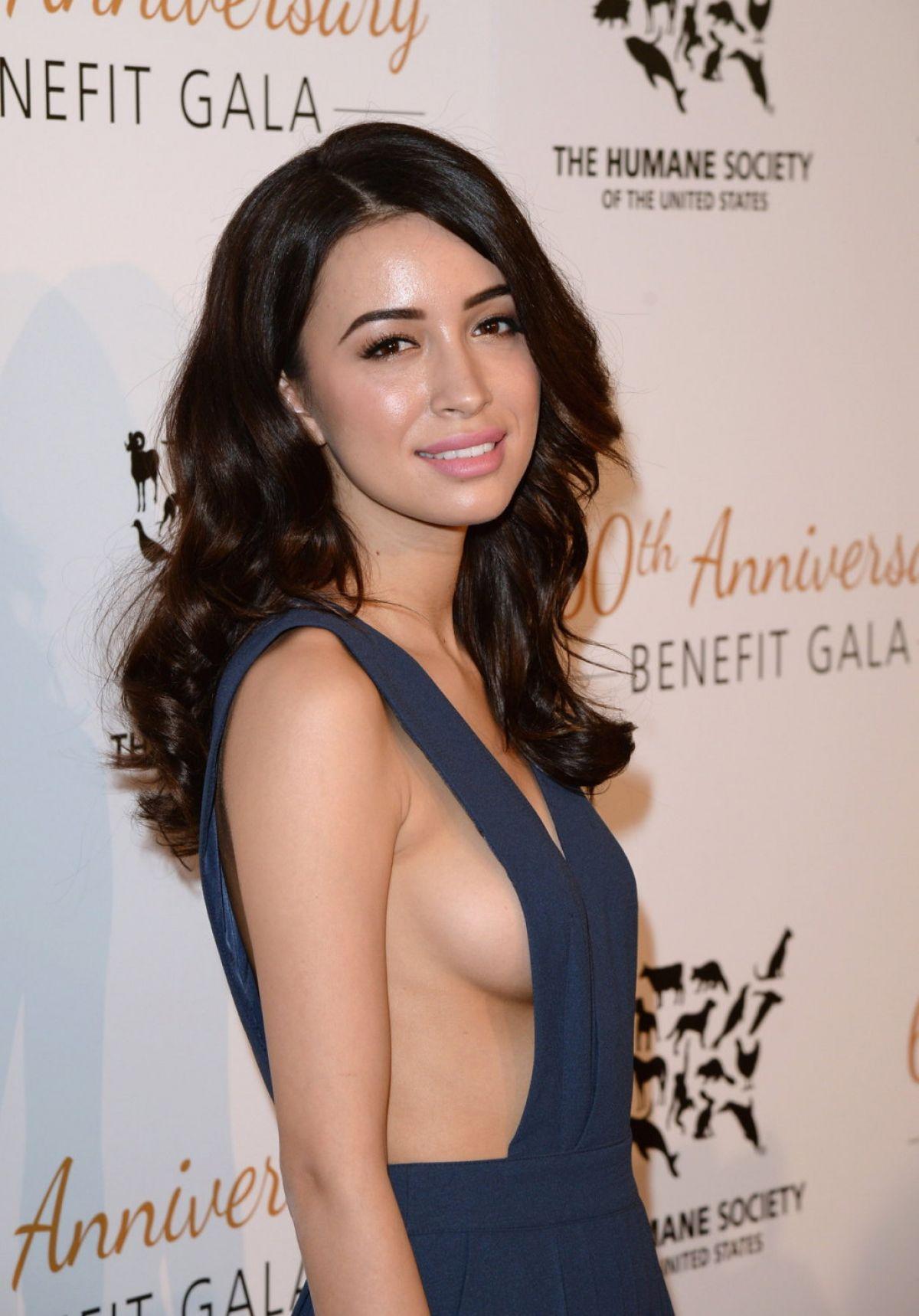 christian serratos side boob