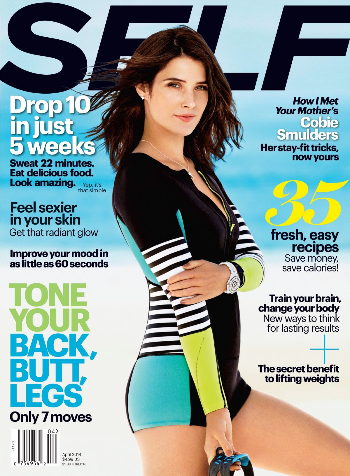 COBIE SMULDERS on the Cover of Self Magazine, April 2014 Issue