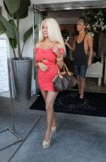 COURTNEY STODDEN in Tight Dress Out in Beverly Hills