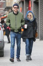 DAKOTA FANNING and Jamie Strachan Out in New York