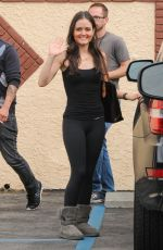 DANICA MCKELLAR at DWTS Rehearsals in Hollywood
