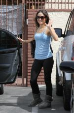 DANICA MCKELLAR in Tank Top at DWTS Rehearsals in Los Angeles