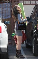 DANICA MCKELLAR in Tight Shorts Arrives at DWTS Rehersal in Los Angeles